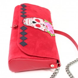 Sac brodé rouge Frida kahlo spirit…