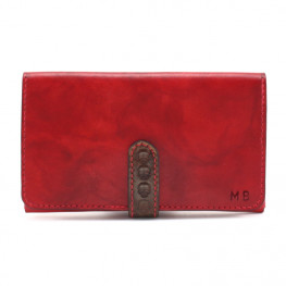 Portefeuille cuir rouge